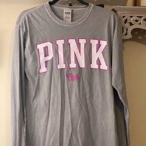 VS pink oversized long sleeve tee